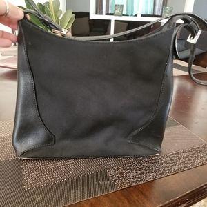Cole Haan black leather hobo bag..